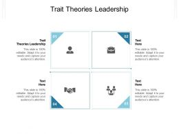 Trait Theories Leadership Ppt Powerpoint Presentation Model Ideas Cpb