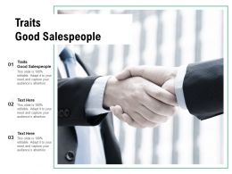 Traits Good Salespeople Ppt Powerpoint Presentation Summary Example Topics Cpb