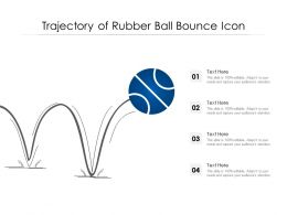 Trajectory Of Rubber Ball Bounce Icon