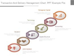 Transaction And Delivery Management Chart Ppt Example File