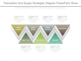 Transaction And Supply Strategies Diagram Powerpoint Show