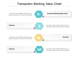 Transaction Banking Value Chain Ppt Powerpoint Presentation Professional Brochure Cpb