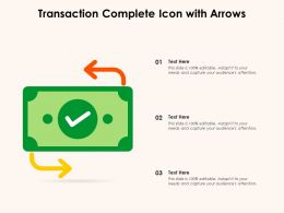 Transaction Complete Icon With Arrows