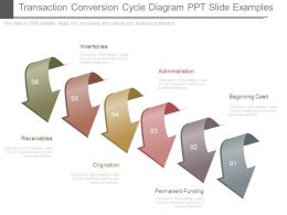 Transaction Conversion Cycle Diagram Ppt Slide Examples