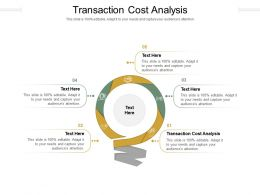 Transaction Cost Analysis Ppt Powerpoint Presentation Slides Influencers Cpb