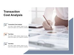 Transaction Cost Analysis Ppt Powerpoint Presentation Styles Graphics Tutorials Cpb