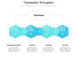 Transaction Encryption Ppt Powerpoint Presentation Layouts Portfolio Cpb