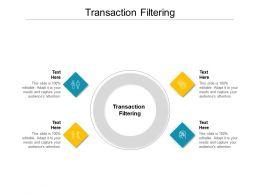 Transaction Filtering Ppt Powerpoint Presentation Inspiration Master Slide Cpb