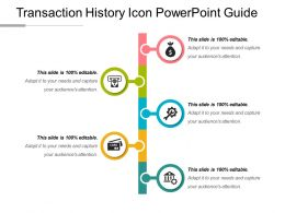 Transaction History Icon Powerpoint Guide