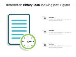 Transaction History Icon Showing Past Figures