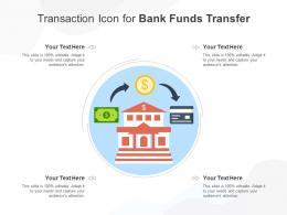 Transaction Icon For Bank Funds Transfer