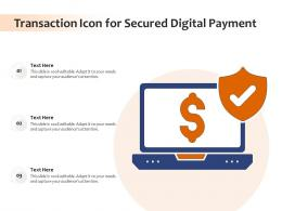 Transaction Icon For Secured Digital Payment