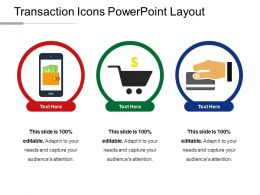 Transaction Icons Powerpoint Layout