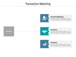 Transaction Matching Ppt Powerpoint Presentation Outline Display Cpb