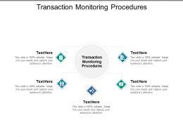Transaction Monitoring Procedures Ppt Powerpoint Presentation Portfolio Graphics Example Cpb