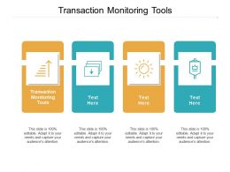 Transaction Monitoring Tools Ppt Powerpoint Presentation Ideas Deck Cpb
