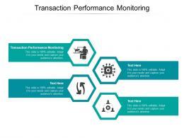 Transaction Performance Monitoring Ppt Powerpoint Presentation Portfolio Aids Cpb