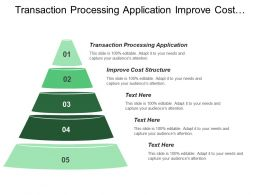 Transaction Processing Application Improve Cost Structure Increase Assent