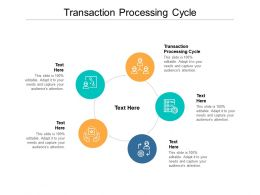Transaction Processing Cycle Ppt Powerpoint Presentation Pictures Ideas Cpb