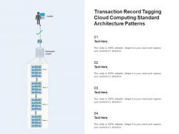 Transaction Record Tagging Cloud Computing Standard Architecture Patterns Ppt Powerpoint Slide