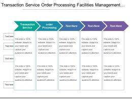 Transaction Service Order Processing Facilities Management Upgrade Management