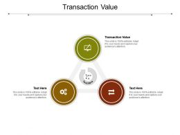 Transaction Value Ppt Powerpoint Presentation Ideas Design Ideas Cpb