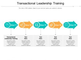 Transactional Leadership Training Ppt Powerpoint Presentation Outline Inspiration Cpb
