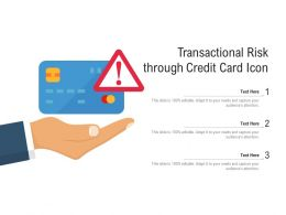 Transactional Risk Through Credit Card Icon