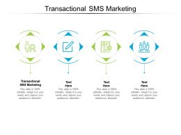 Transactional SMS Marketing Ppt Powerpoint Presentation Icon Picture Cpb