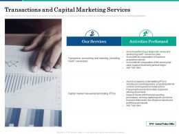 Transactions And Capital Marketing Services Ppt Powerpoint Presentation Model Layouts