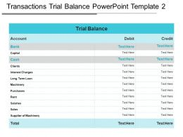 Transactions Trial Balance Powerpoint Template 2