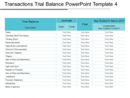 Transactions Trial Balance Powerpoint Template 4