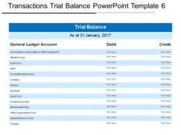 Transactions Trial Balance Powerpoint Template 6