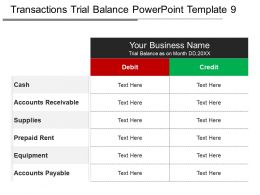 Transactions Trial Balance Powerpoint Template 9
