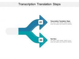 Transcription Translation Steps Ppt Powerpoint Presentation Slides Graphics Template Cpb