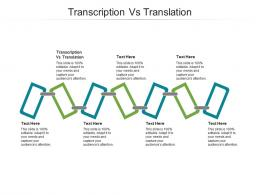 Transcription Vs Translation Ppt Powerpoint Presentation Gallery Grid Cpb