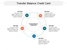 Transfer Balance Credit Card Ppt Powerpoint Presentation Visual Aids Model Cpb