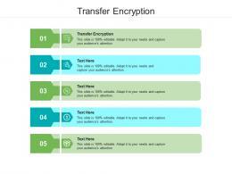 Transfer Encryption Ppt Powerpoint Presentation Visual Aids Portfolio Cpb