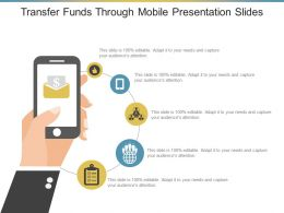 Transfer Funds Through Mobile Presentation Slides