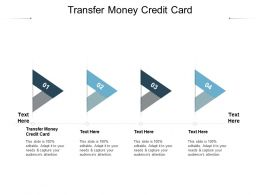 Transfer Money Credit Card Ppt Powerpoint Presentation Infographics Example Introduction Cpb