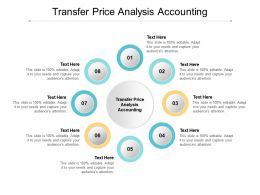 Transfer Price Analysis Accounting Ppt Powerpoint Presentation Inspiration Layout Cpb