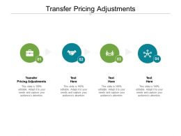 Transfer Pricing Adjustments Ppt Powerpoint Presentation Inspiration Graphics Tutorials Cpb