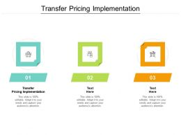Transfer Pricing Implementation Ppt Powerpoint Presentation Model Tips Cpb
