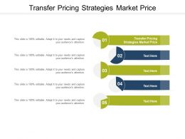 Transfer Pricing Strategies Market Price Ppt Powerpoint Presentation Infographics Themes Cpb