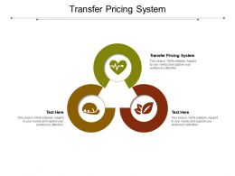 Transfer Pricing System Ppt Powerpoint Presentation Pictures Information Cpb
