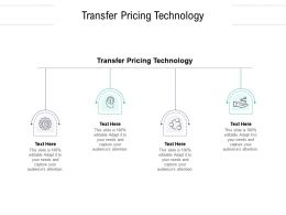 Transfer Pricing Technology Ppt Powerpoint Presentation Professional Picture Cpb