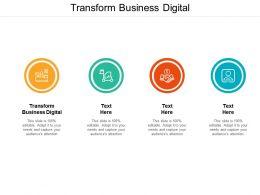 Transform Business Digital Ppt Powerpoint Presentation Portfolio Topics Cpb