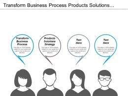 Transform Business Process Products Solutions Strategy Vendor Management Cpb