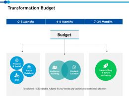 Transformation Budget Audience Ppt Powerpoint Presentation File Infographics