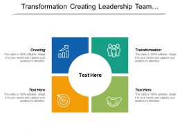 Transformation Creating Leadership Team Performance Presentation Globe Linear Programming